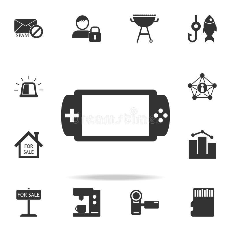 Icono de la videoconsola del PDA Sistema detallado de iconos del web Diseño gráfico de la calidad superior Uno de los iconos de l ilustración del vector
