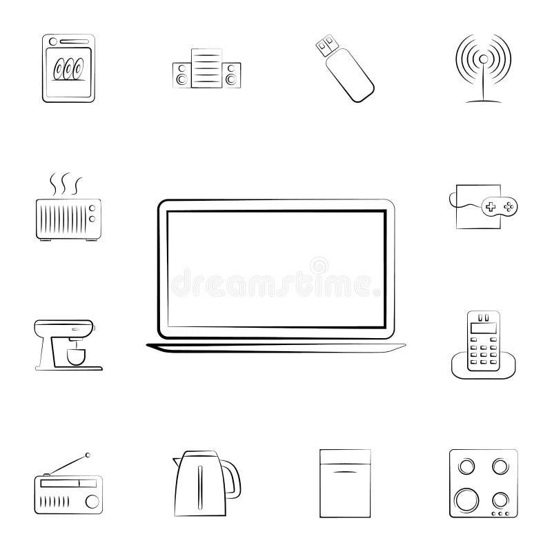 Icono de la videoconsola Sistema detallado de los aparatos electrodomésticos Diseño gráfico superior Uno de los iconos de la cole libre illustration