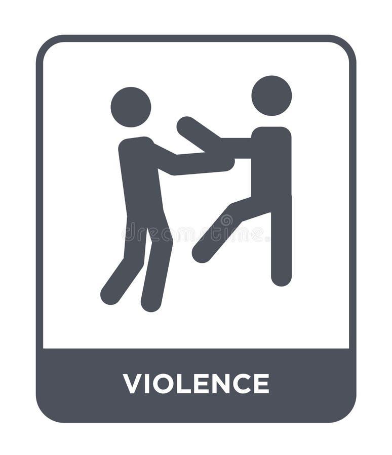icono de la violencia en estilo de moda del diseño icono de la violencia aislado en el fondo blanco plano simple y moderno del ic stock de ilustración