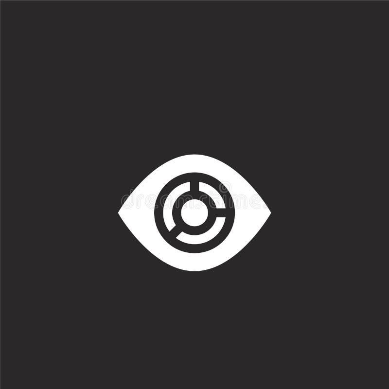 icono de la visualización Icono llenado de la visualización para el diseño y el móvil, desarrollo de la página web del app icono  libre illustration