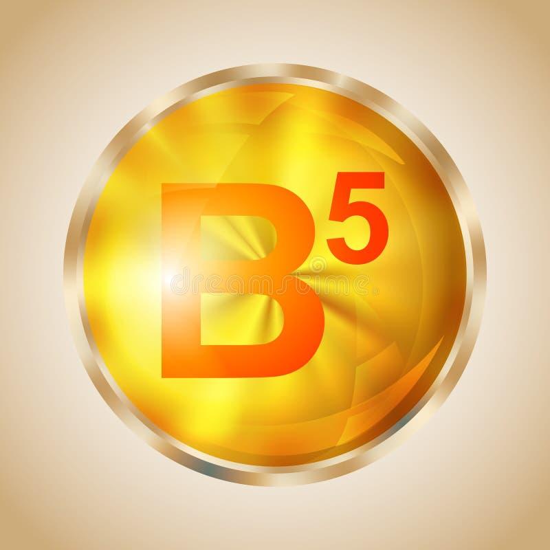 Icono de la vitamina B5 stock de ilustración