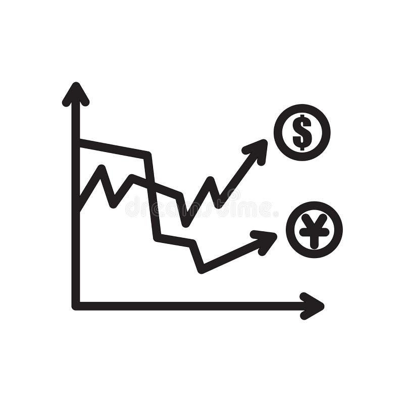 icono de la volatilidad aislado en el fondo blanco ilustración del vector