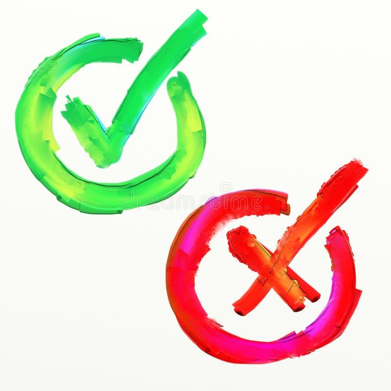Icono de la votación a favor y en contra de stock de ilustración