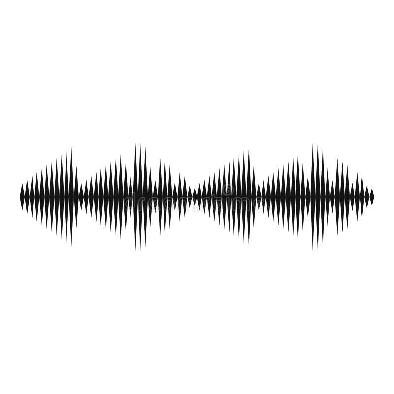 Icono de la voz del equalizador, estilo negro simple stock de ilustración