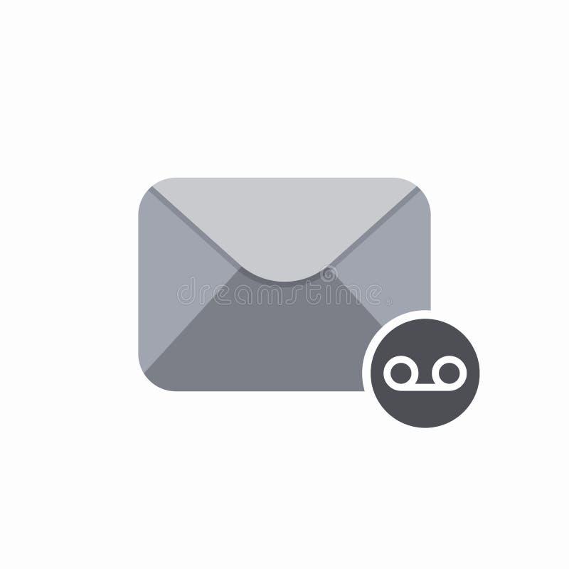 Icono de la voz del mensaje del correo del sobre del correo electrónico stock de ilustración