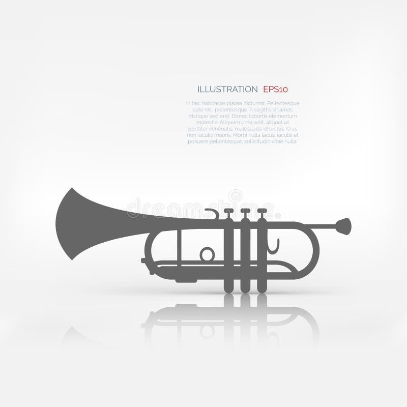 Icono de la web de los instrumentoes de viento de la música stock de ilustración