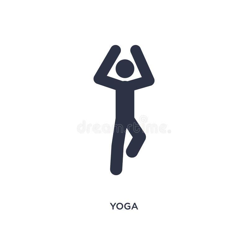 icono de la yoga en el fondo blanco Ejemplo simple del elemento del concepto de las actividades ilustración del vector