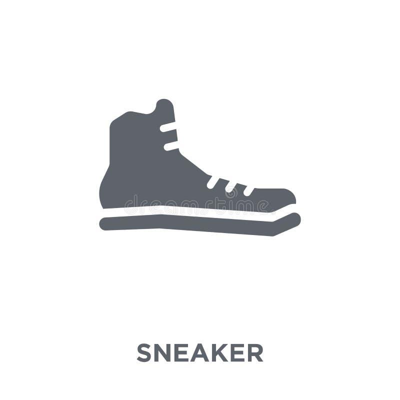 Icono de la zapatilla de deporte de la colección stock de ilustración