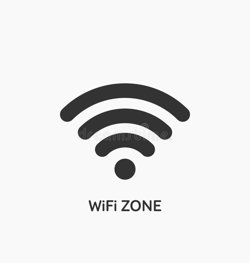 Icono de la zona de Wifi ilustración del vector