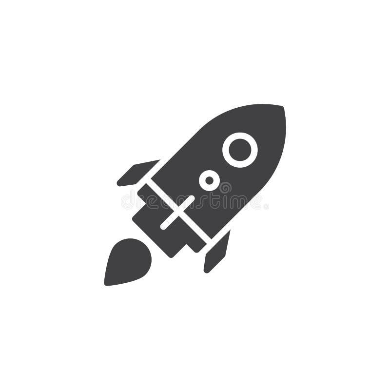 Icono de lanzamiento del vector del lanzamiento del cohete ilustración del vector