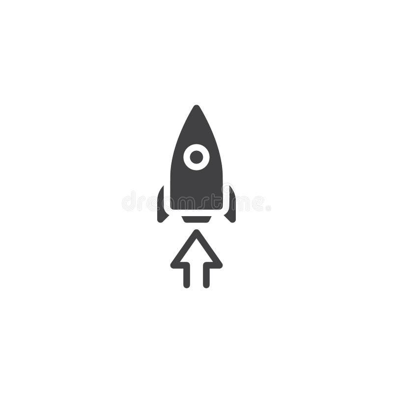 Icono de lanzamiento del vector del cohete libre illustration