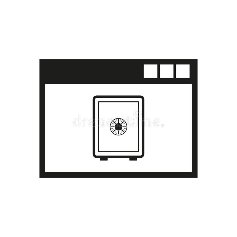 Icono de las actividades bancarias en línea Diseño del vector símbolo de las actividades bancarias en línea web de las actividade ilustración del vector