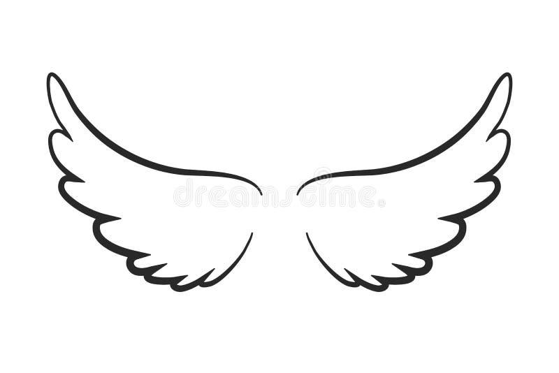 Icono de las alas del ángel - ilustración del vector