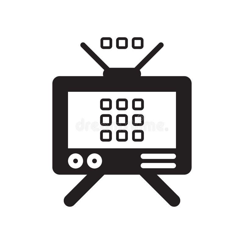 Icono de las antenas aislado en el fondo blanco stock de ilustración