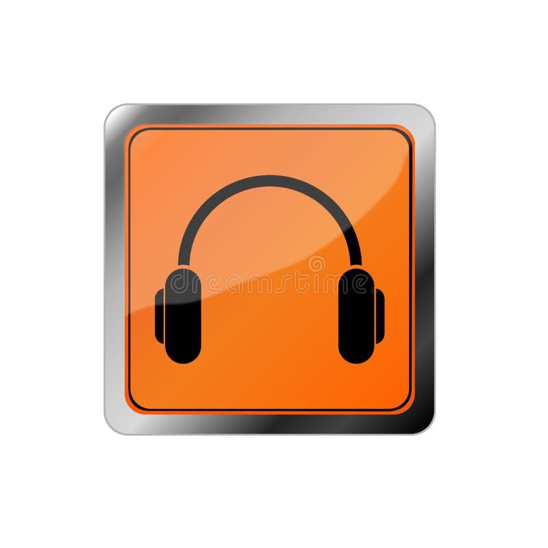 Icono de las auriculares, ejemplo audio foto de archivo libre de regalías