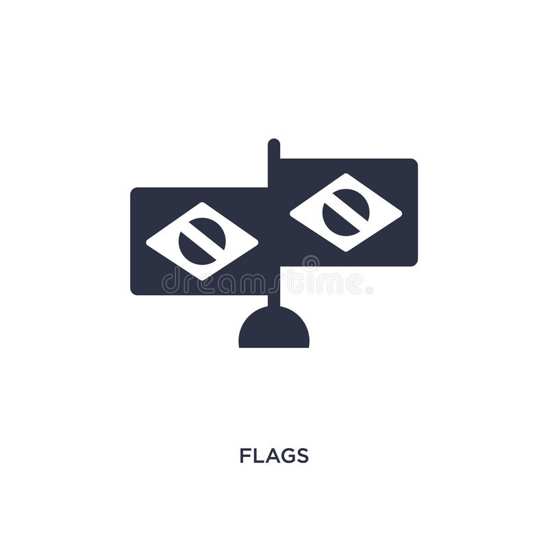 icono de las banderas en el fondo blanco Ejemplo simple del elemento del concepto del brazilia stock de ilustración