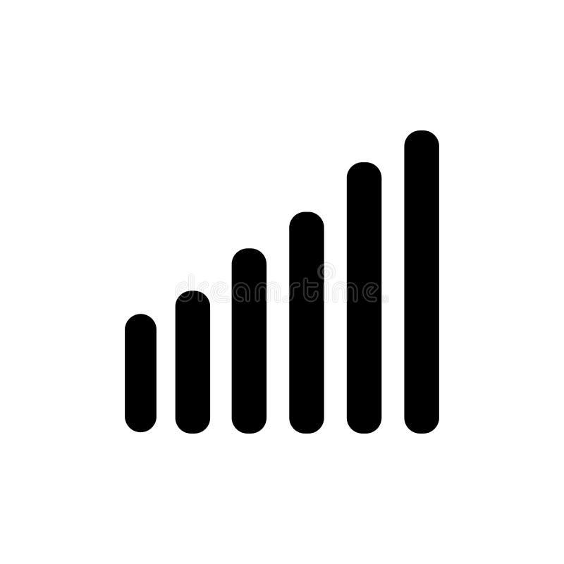 Icono de las barras de los sonidos El sonido de moda obstruye concepto del logotipo en el backgro blanco ilustración del vector