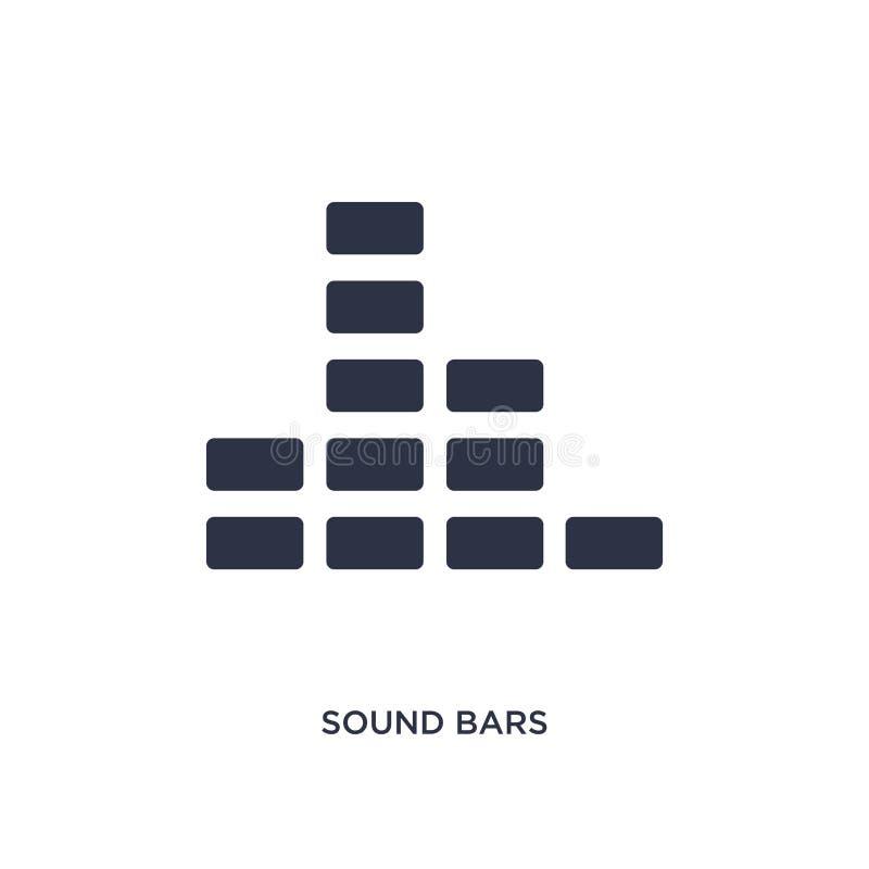 icono de las barras de los sonidos en el fondo blanco Ejemplo simple del elemento del concepto de la música libre illustration