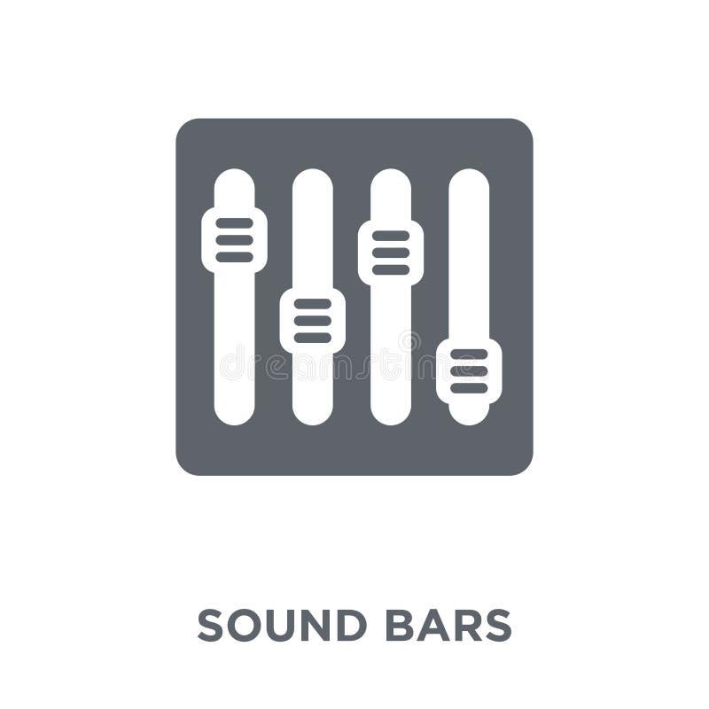 Icono de las barras de los sonidos de la colección de música libre illustration