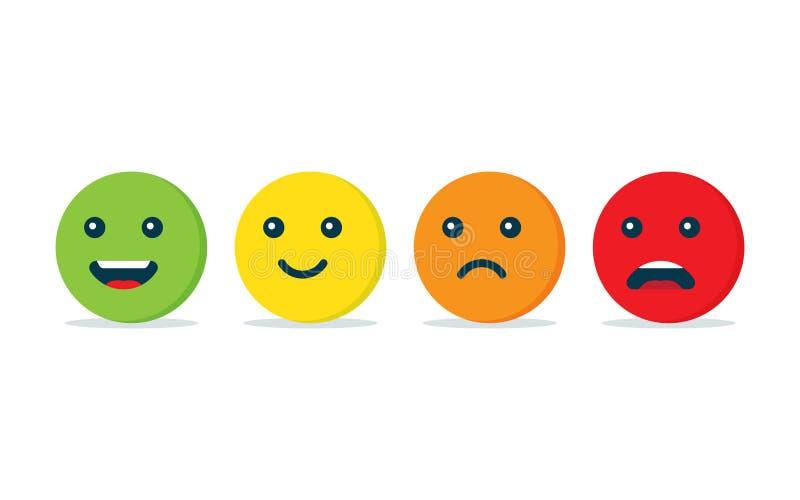 Icono de las bolas de la emoción stock de ilustración