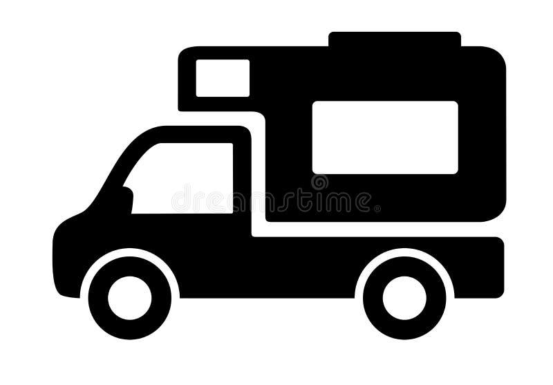 Icono de las caravanas de las autocaravanas de los vehículos libre illustration