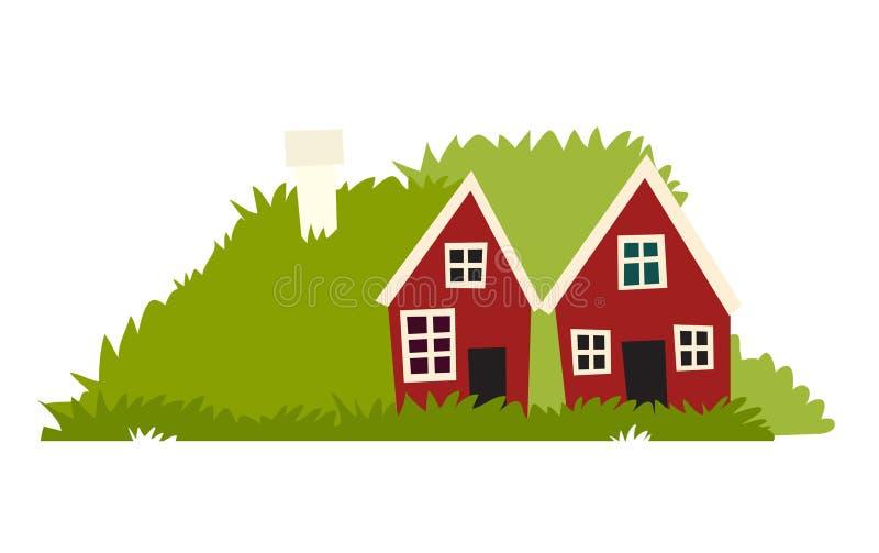 Icono de las casas de los duendes ilustración del vector