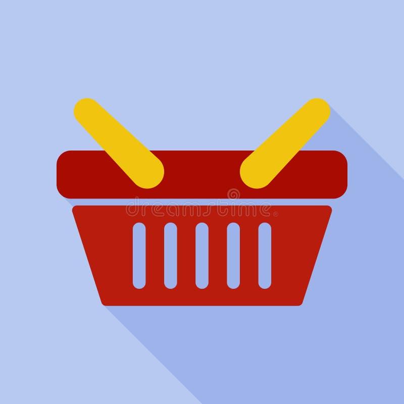 Icono de las cestas de compras stock de ilustración