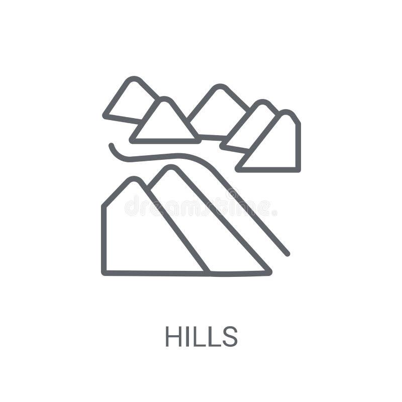 icono de las colinas Concepto de moda del logotipo de las colinas en el fondo blanco de N libre illustration