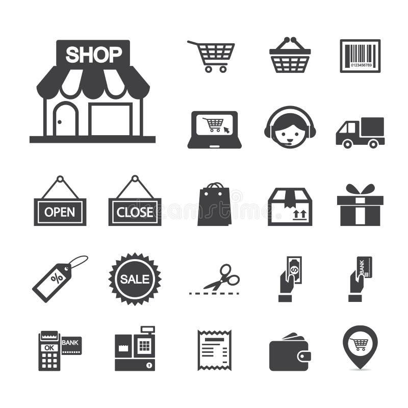 Icono de las compras stock de ilustración