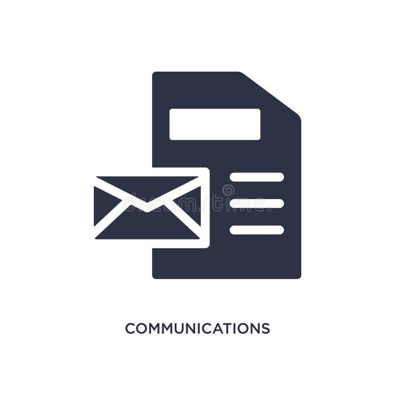icono de las comunicaciones en el fondo blanco Ejemplo simple del elemento del concepto del gdpr stock de ilustración