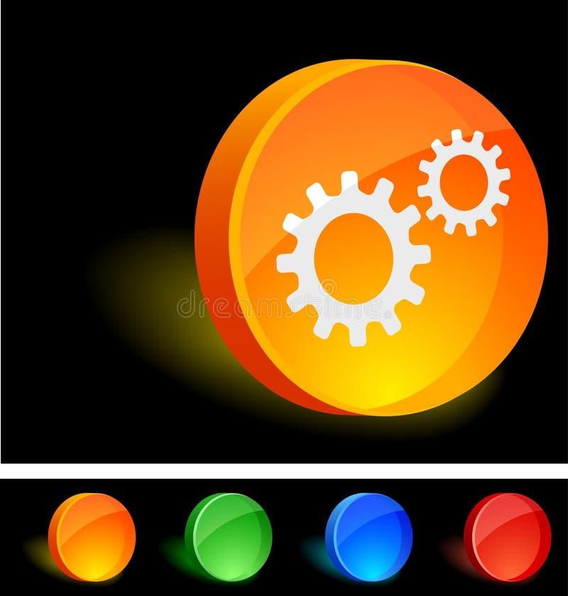 Icono de las configuraciones. stock de ilustración