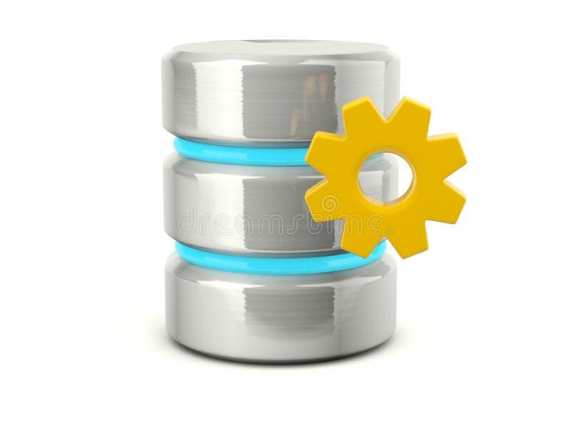 Icono de las configuraciones de la base de datos stock de ilustración