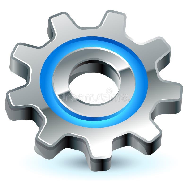 Icono de las configuraciones del engranaje ilustración del vector