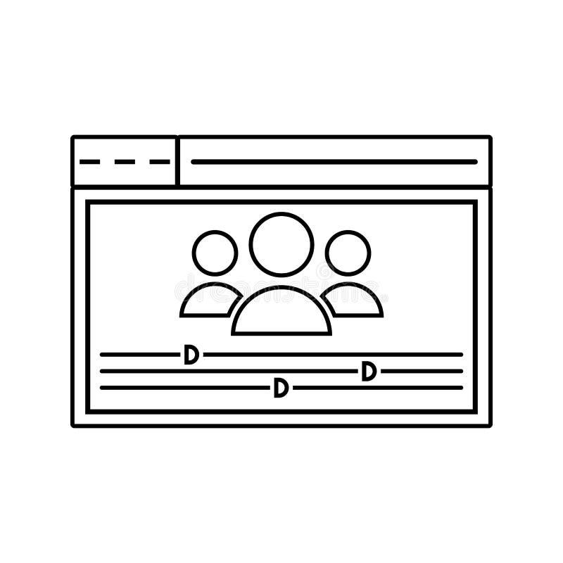 icono de las configuraciones del usuario Elemento de la seguridad cibernética para el concepto y el icono móviles de los apps de  ilustración del vector