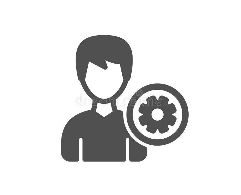 icono de las configuraciones del usuario Muestra masculina del perfil Vector libre illustration
