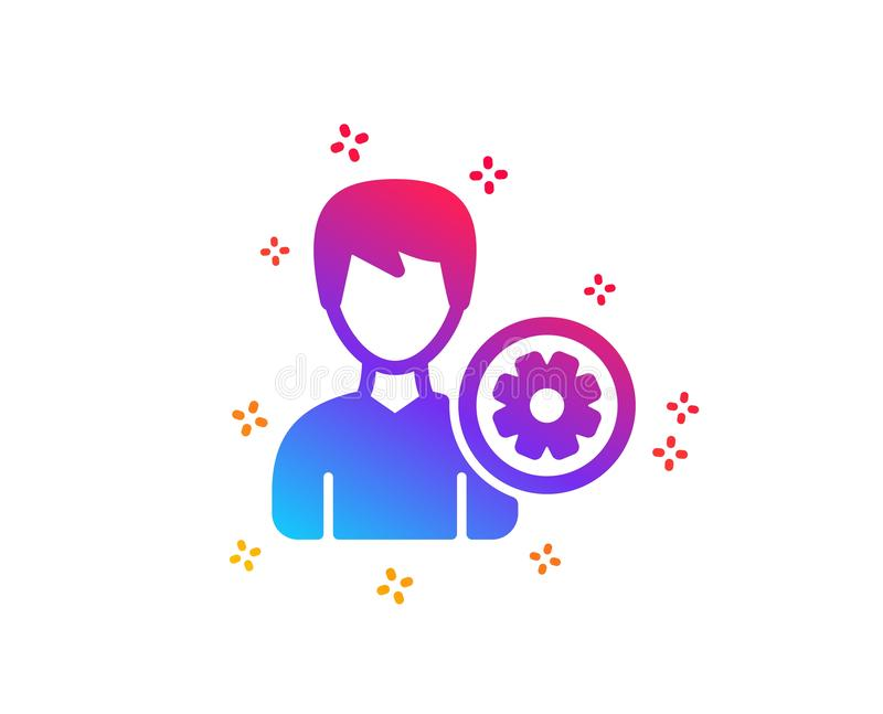icono de las configuraciones del usuario Muestra masculina del perfil Vector stock de ilustración