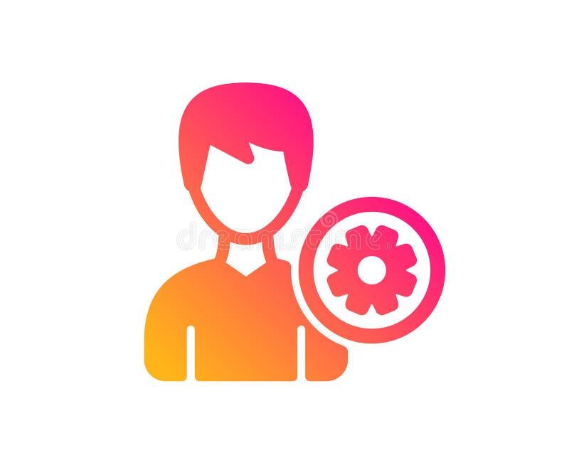 icono de las configuraciones del usuario Muestra masculina del perfil Vector ilustración del vector