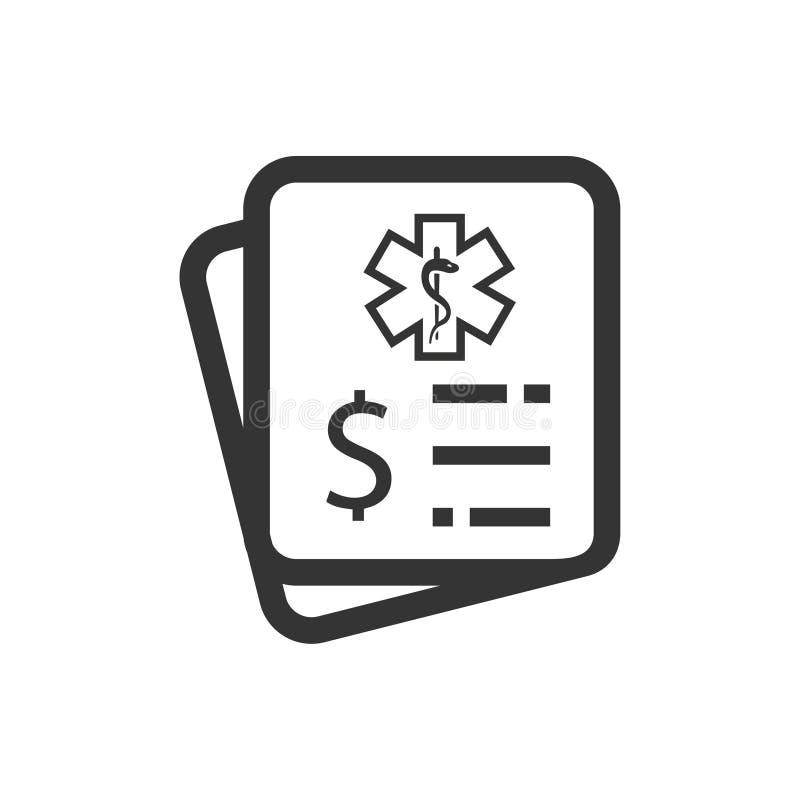Icono de las cuentas médicas stock de ilustración