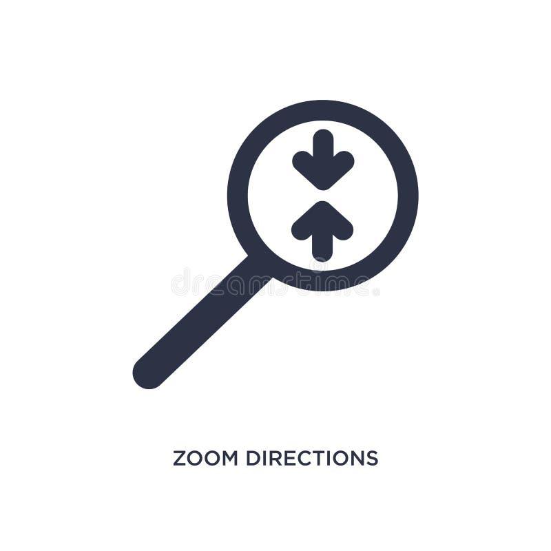 icono de las direcciones del enfoque en el fondo blanco Ejemplo simple del elemento del concepto de las flechas libre illustration