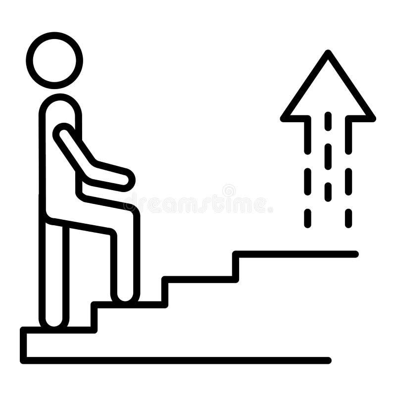 Icono de las escaleras de la carrera, estilo del esquema libre illustration