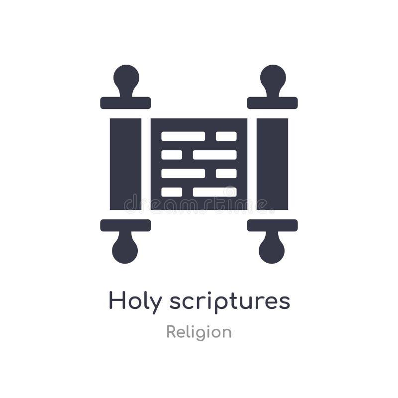 icono de las escrituras santas ejemplo aislado del vector del icono de las escrituras santas de la colección de la religión edita libre illustration