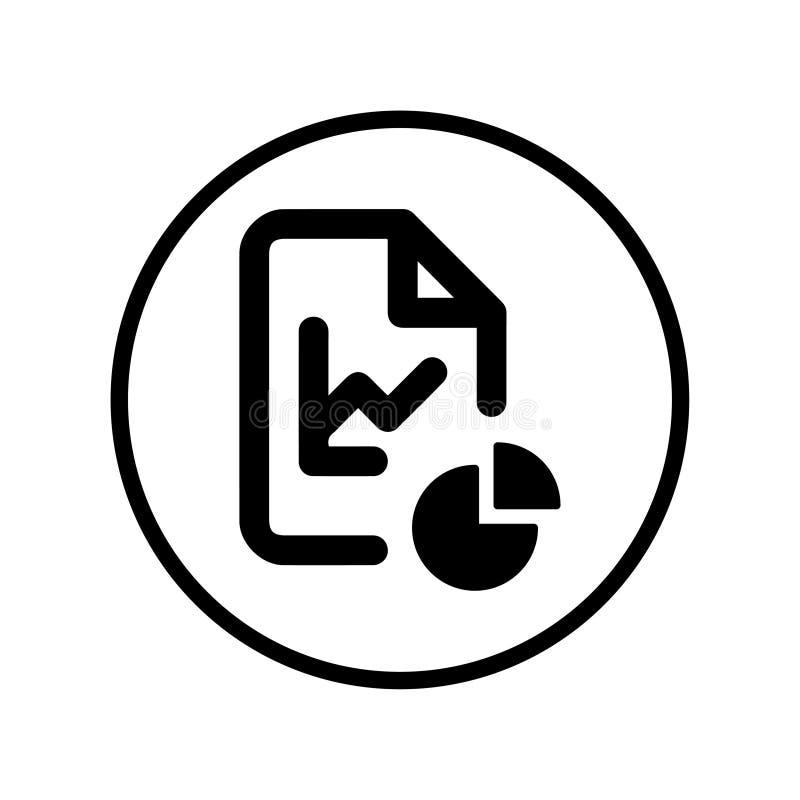 Icono de las estadísticas, de la organización del archivo libre illustration