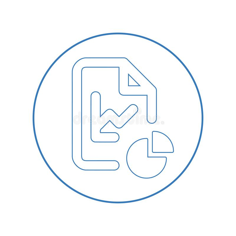 Icono de las estadísticas, de la organización del archivo stock de ilustración