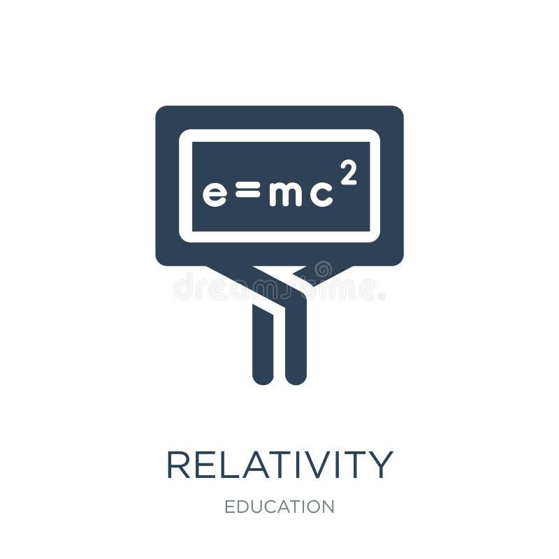 icono de las fórmulas de la relatividad en estilo de moda del diseño icono de las fórmulas de la relatividad aislado en el fondo  ilustración del vector