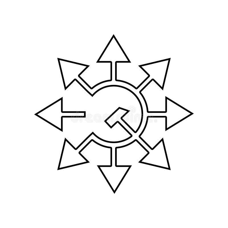 icono de las flechas de la hoz y del martillo Elemento del capitalismo del comunismo para el concepto y el icono m?viles de los a stock de ilustración