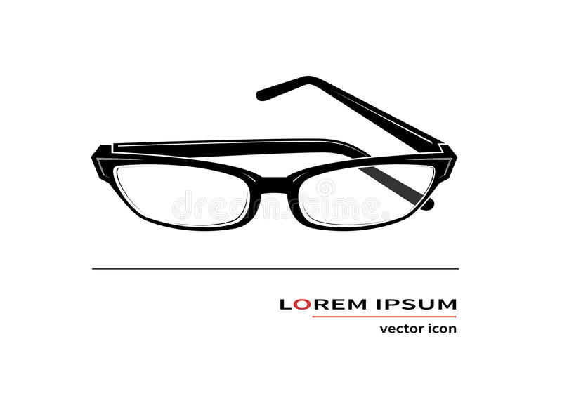 Icono de las gafas ilustración del vector
