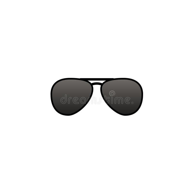 Icono De Las Gafas De Sol Tipo Aviador Del Vector Ilustración del ...