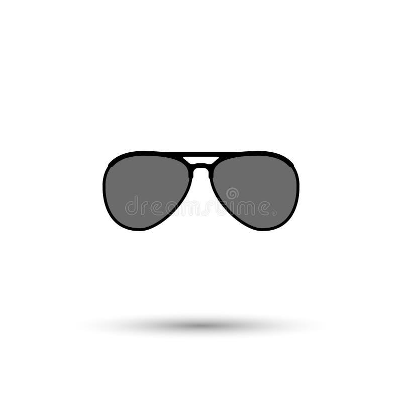 Icono de las gafas de sol tipo aviador del vector ilustración del vector