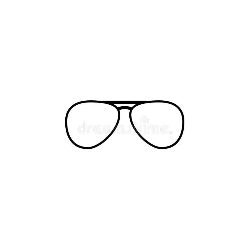 Icono de las gafas de sol tipo aviador del vector stock de ilustración