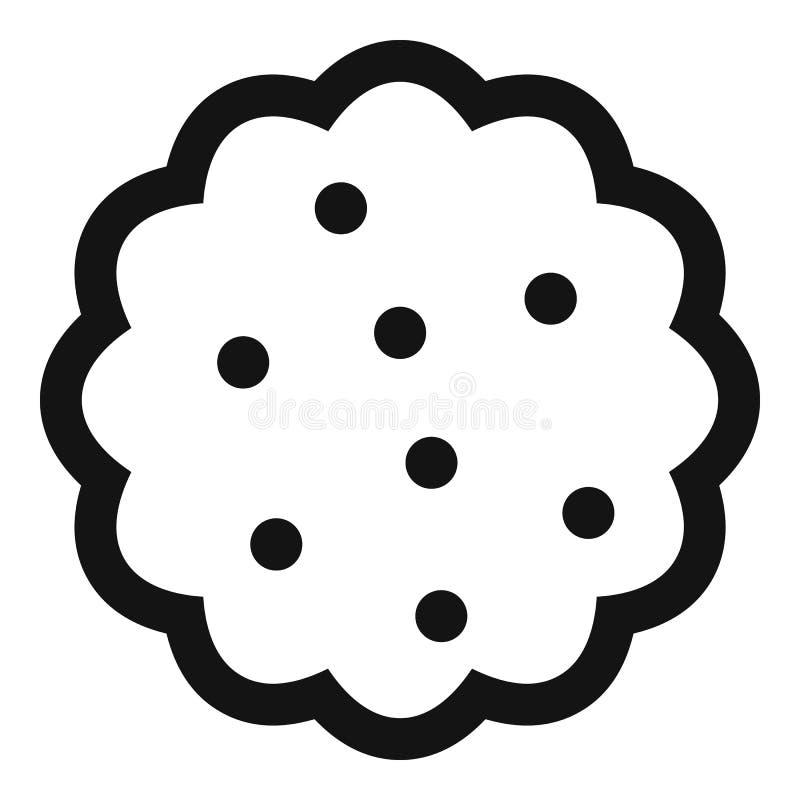 Icono de las galletas, estilo simple ilustración del vector